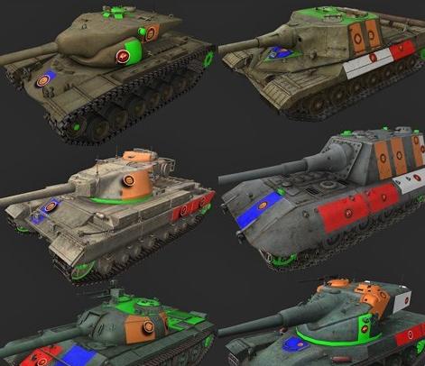 моды для world of tanks с зонами пробития